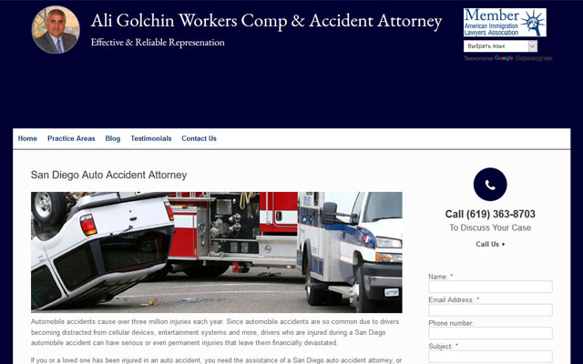 Ali Golchin Accident Attorney